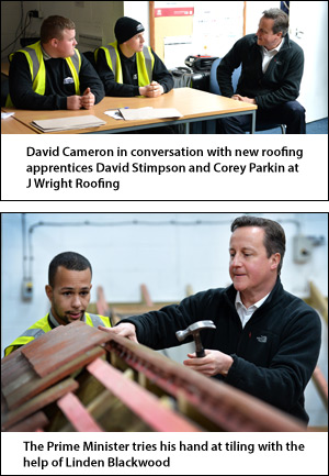 Prime Minister Visits J Wright Roofing For Fact Finding