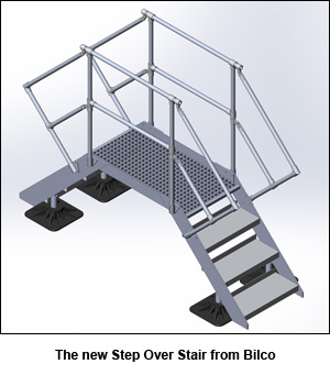 The new Step Over Stair from Bilco